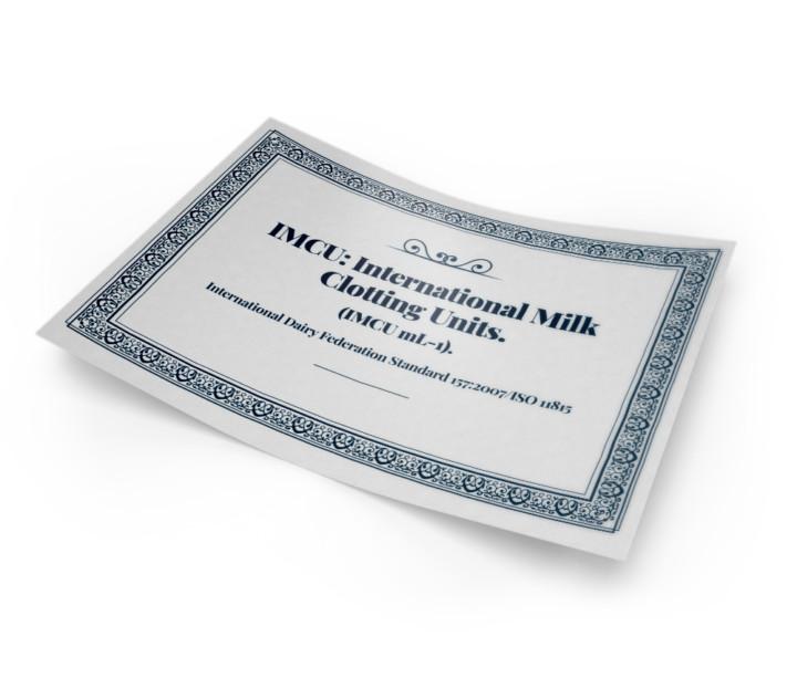 certificato IMCU forza coagulante caglio clerici | Caglificio Clerici
